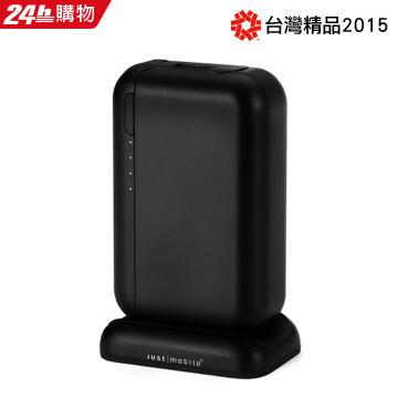 Just Mobile TopGum 6000mAh 3.4A USB 鋁合金行動電源-黑色