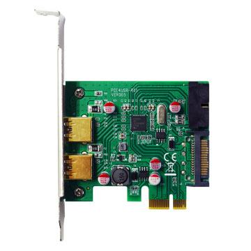 伽利略 PCI-E USB3.0 4 Port 擴充卡(前2-19in+後2)Reneses720201高效能晶片(NEC)