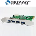 BROWAY BW-P3018A PCI-E TO USB3.0 4PORT HUB 高速 5Gbps 介面卡