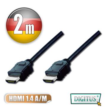 DIGITUS HDMI 1.4a圓線2公尺typeA