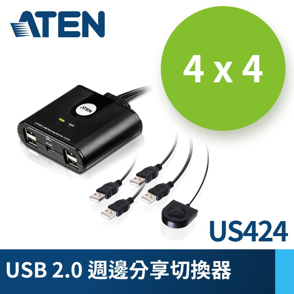 ATEN 4埠 USB 週邊分享裝置 (US424)