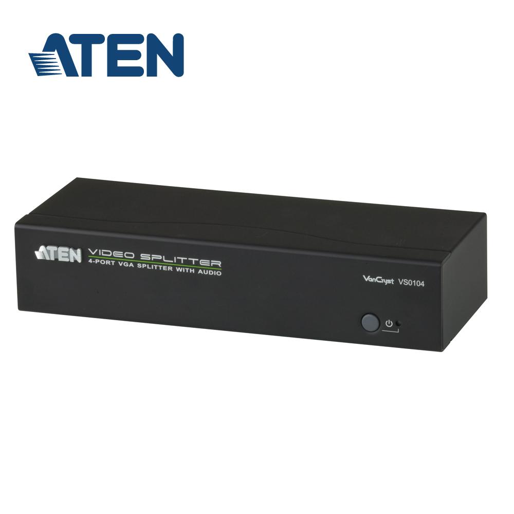 ATEN 4埠 VGA 螢幕分配器 (支援立體音訊)