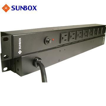 SUNBOX 8埠機架型電源排插 (無電錶1u/0u)