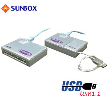 USB 1.1 四埠延長器,延長50米