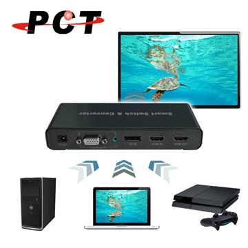 【PCT】多介面影音訊號切換器(DHV301)