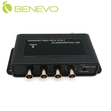 BENEVO 1進4出 HD-CVI/TVI/AHD 高清影像分配器  (BNCS104HD)