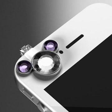 耳機塞 防塵塞 耳機孔塞 耳機防塵塞 智慧型手機防塵塞~迪士尼米奇造型(淡紫色)