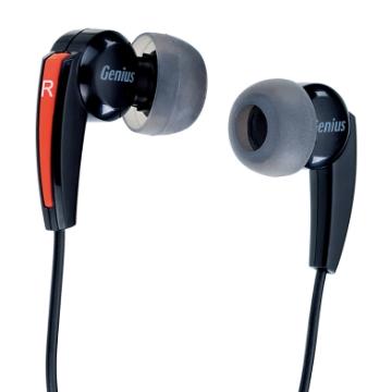 Genius HS-M220 密閉型立體聲噪音隔絕式耳機+麥克風(臨場的低音震撼)(紅)