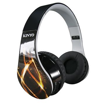 KINYO「新潮流」充電式可折疊超輕藍牙無線耳機(BTE3638)