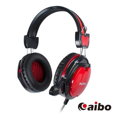 aibo IPG700 全罩式電競耳機麥克風-黑紅