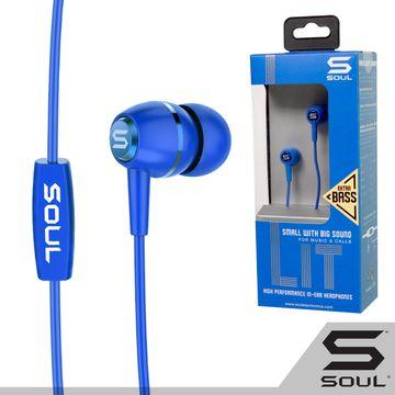 SOUL LIT 輕量入耳式耳機-閃電藍