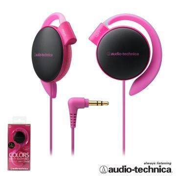 鐵三角 ATH-EQ500 輕量薄型軟質耳掛式耳機【附捲線器】【粉紅色】