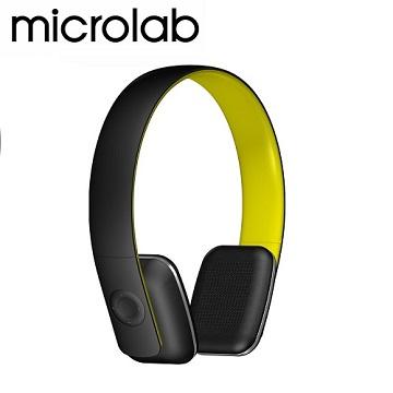 【Microlab】T2 藍芽4.0 無線高傳真多功能多媒體耳機 (內建通訊麥克風)_螢光