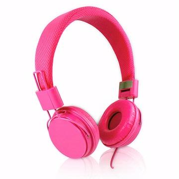 EP05 智慧型手機用高音質立體聲耳機麥克風(線控)-桃紅