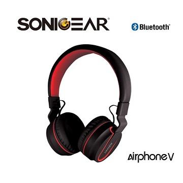 【SONICGEAR】Airphone V 藍芽無線耳機_B.Grey黑灰