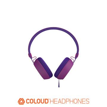 Coloud 瑞典設計 漸層系列 耳罩式耳機~紫色