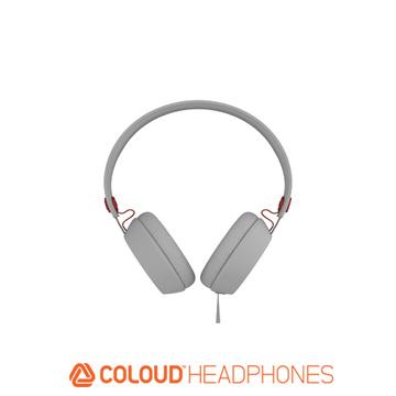 Coloud 瑞典設計 撞色系列 耳罩式耳機~白紅