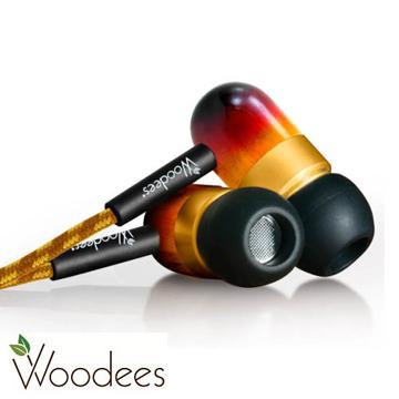 Woodees復古麥克風耳機(IESW100V)~美國木質原音耳機~