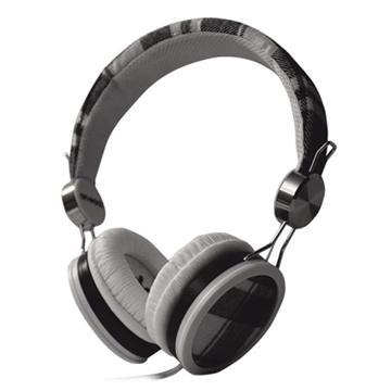 On earz WATI-B耳罩式耳機(灰黑蘇格蘭格紋)