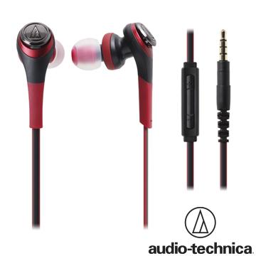 iPod、iPhone、iPad用鐵三角 ATH-CKS550i iPod/iPhone/iPad專用耳塞式耳機【紅色】