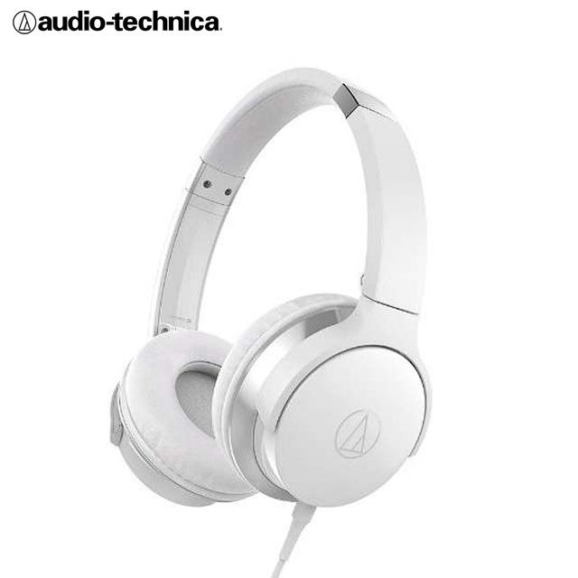 鐵三角 ATH-AR3 摺疊耳罩式耳機 可拆卸導線-白