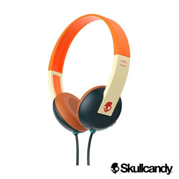 美國Skullcandy潮牌 Uproar阿波羅 小耳罩式耳機-綠橘紅色(公司貨)