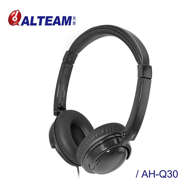 ALTEAM我聽 AH-Q30【花系列】蝴蝶蘭耳罩式耳機 - 質感黑