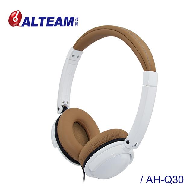 ALTEAM我聽 AH-Q30【花系列】蝴蝶蘭耳罩式耳機 - 淺棕白