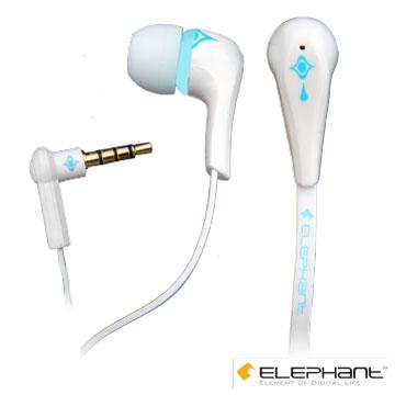 ELEPHANT 極致音效之三星手機專用線控耳麥(IP-HS-006W) 白色