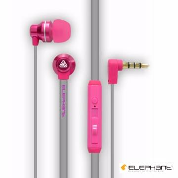 ELEPHANT繽紛搖滾系重低音線控式手機耳麥(IPHS010PK)粉紅