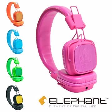 ELEPHANT 王者頭戴式線控耳機 NEON-PINK (IPHS009PK)