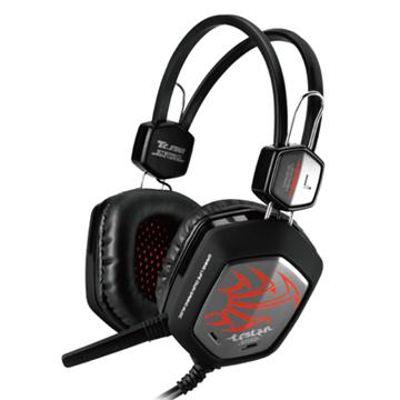 TCSTAR 電競雙耳頭戴式耳機麥克風/紅色 TCE9010RD