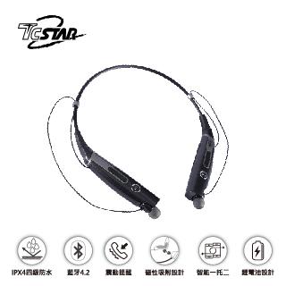 TCSTAR 頸掛式運動款入耳式藍牙耳機麥克風 TCE8920BK