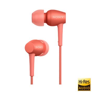 SONY Hi-Res 支援智慧型手機入耳式耳機 IER-H500A 紅