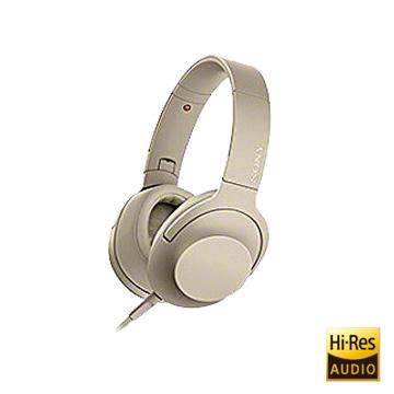 SONY Hi-Res 支援智慧型手機耳罩式耳機 MDR-H600A 金