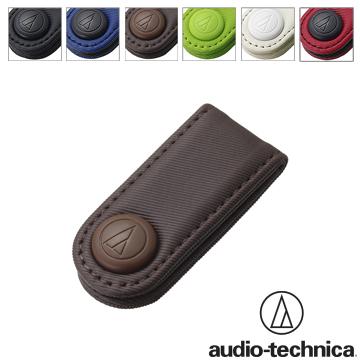 鐵三角最新捲線器鐵三角 AT-CW5 新版押扣式耳機捲線器【棕色設有固定夾】