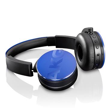 屢獲大獎的耳機 AKG ON-EAR 無線藍牙耳機 Y50BT 藍色