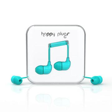 Happy Plugs 音符入耳式耳機 -土耳其藍