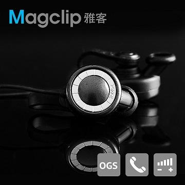 遠離電磁波 智慧通話【TOPlay聽不累】Magclip磁附通話耳機-極簡黑