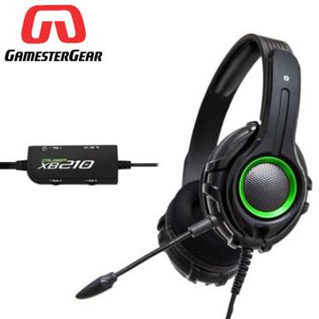 【GamesterGear】Cruiser XB210 電競賭徒輕量舒適/高透氣運動布材質全罩式耳罩 XBOX專用耳機(重低音加強版)-機動綠
