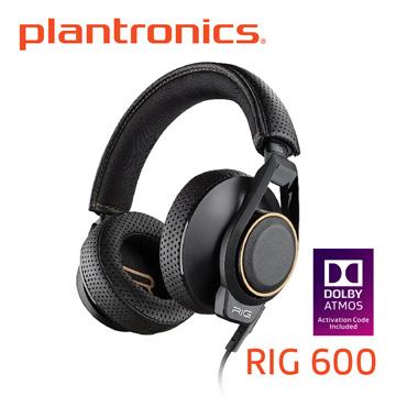 全台首款 杜比全景聲電競耳機Plantronics繽特力 RIG 600 Dolby Atmos 電競耳機