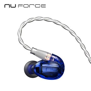 美國NuForce HEM1 可換線監聽級入耳式耳機-靛青藍