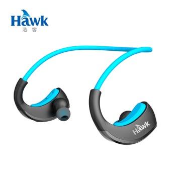 ★藍牙4.1傳輸+IPX5防水等級★ Hawk B560 SPORT藍牙立體聲耳機麥克風-藍