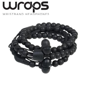 英國 Wraps【Natural】時尚自然系手環耳機 原木黑