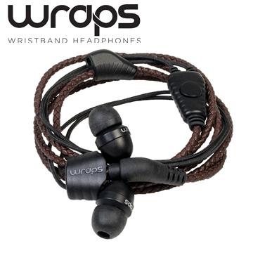 英國 Wraps【Natural】時尚自然系手環耳機皮革咖