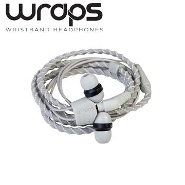 英國 Wraps【Talk】經典編織手環耳機 通話版-白