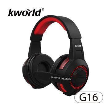 ▼2017 KWorld 最新電競耳麥 加重低頻▼廣寰頭戴發光電競耳麥 G16《黑紅》