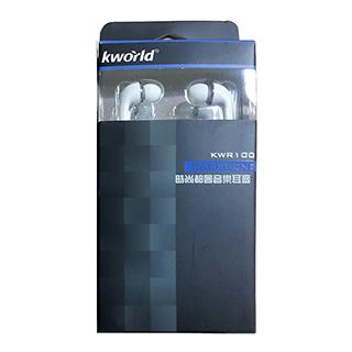 (福利品)【Kworld 廣寰】入耳式耳機 KWR100(黑色)