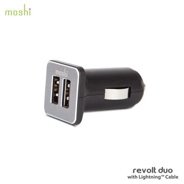 moshi Revolt Duo 雙端口高效車用充電組 ( 附Lightning Cable )