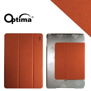 Optima iPad Air New Stylish 丹寧紋保護套 - 橘色